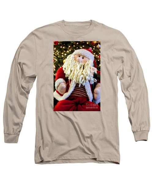 Santa Takes A Seat Long Sleeve T-Shirt by Vinnie Oakes
