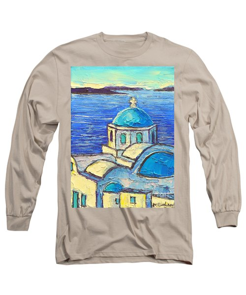 Santorini  Blue Long Sleeve T-Shirt