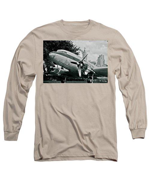 Classic Aircraft Douglas Dc-3 Long Sleeve T-Shirt