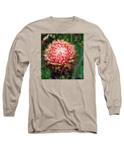 Sao Tome Blosssom Long Sleeve T-Shirt by John Potts