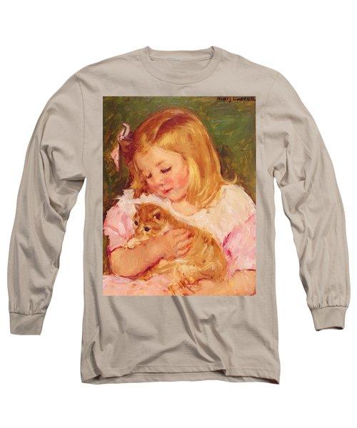 Sara Holding A Cat Long Sleeve T-Shirt