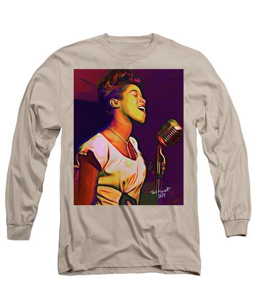 Sarah Vaughn Long Sleeve T-Shirt by Ted Azriel