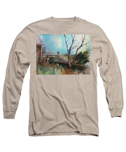 Sara's Viewi Of The Jones River Long Sleeve T-Shirt by P Anthony Visco