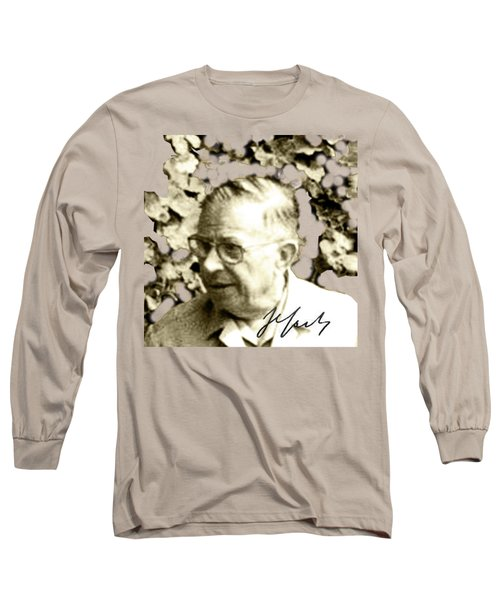 Sartre Long Sleeve T-Shirt by Asok Mukhopadhyay