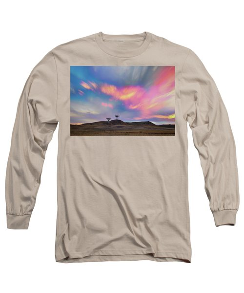 Long Sleeve T-Shirt featuring the photograph Satellite Dishes Quiet Communications To The Skies by James BO Insogna