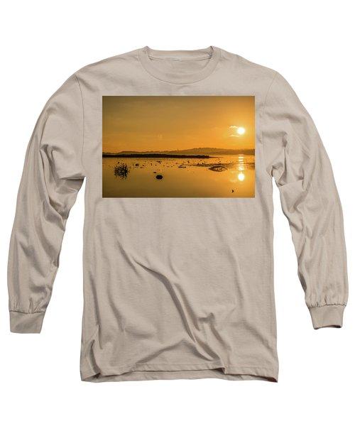 Saturday Morning Along The Estuary  Long Sleeve T-Shirt by Martina Fagan