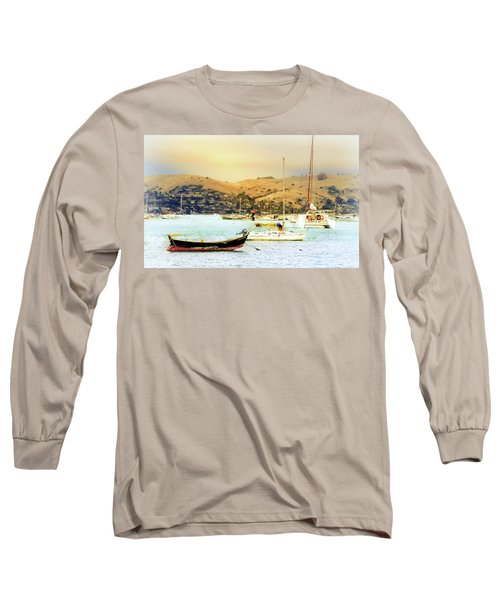 Sausalito Sailboats Long Sleeve T-Shirt by Laura DAddona