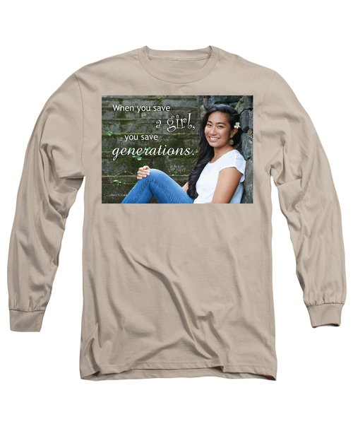Save A Girl Long Sleeve T-Shirt