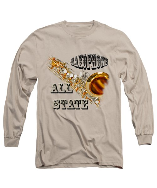 Saxophone All State Long Sleeve T-Shirt by M K  Miller