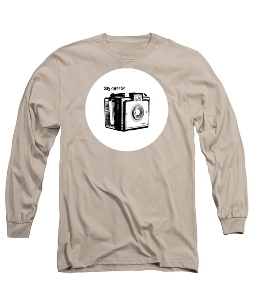 Say Cheese Old Film Camera Round Circle Blanket Towel Long Sleeve T-Shirt
