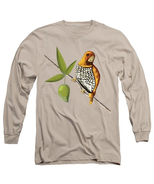 Scaly Breasted Munia D Long Sleeve T-Shirt by Thecla Correya