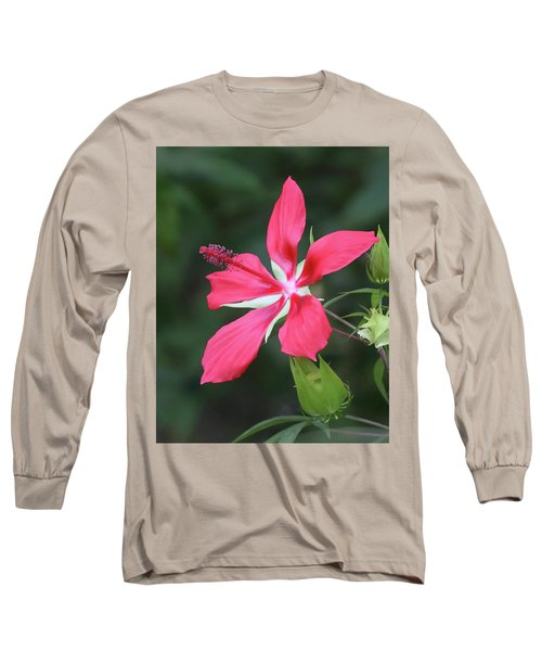 Scarlet Hibiscus #4 Long Sleeve T-Shirt