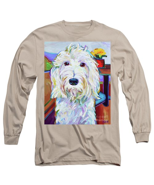 Long Sleeve T-Shirt featuring the painting Schnoodle by Robert Phelps