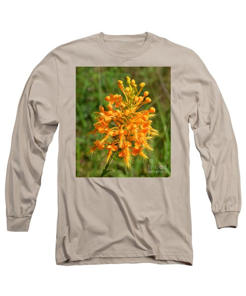 School Bus Yellow Long Sleeve T-Shirt by Lew Davis