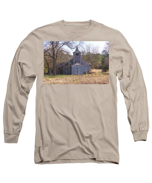Long Sleeve T-Shirt featuring the photograph Schoolhouse#3 by Susan Crossman Buscho