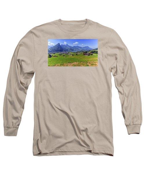 Schwyz And Zurich Canton View, Switzerland Long Sleeve T-Shirt