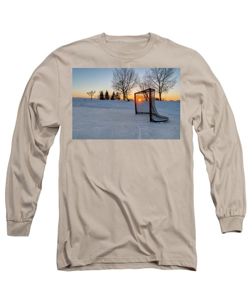 Long Sleeve T-Shirt featuring the photograph Scoring The Sunset 2 by Darcy Michaelchuk