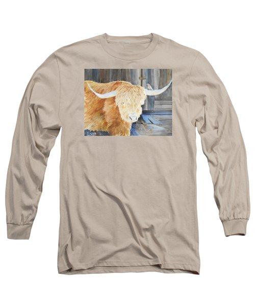 Scottish Highland And Friend Long Sleeve T-Shirt by Christine Lathrop
