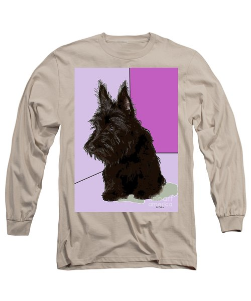 Scottish Terrier Long Sleeve T-Shirt by George Pedro