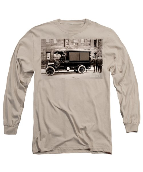 Scranton Pennsylvania  Bureau Of Police  Paddy Wagon  Early 1900s Long Sleeve T-Shirt