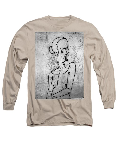 Screamer Long Sleeve T-Shirt by Thomas Valentine
