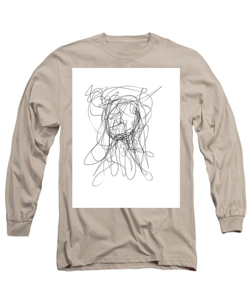 Scribble For Gusts, Dust, The Sun... Long Sleeve T-Shirt by Ismael Cavazos