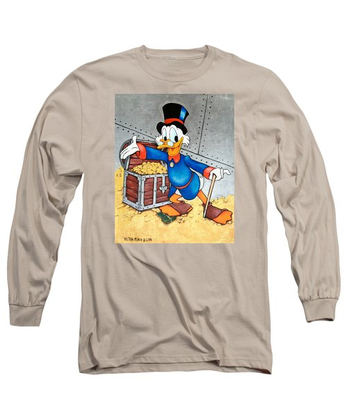 Scrooge Mcduck  Long Sleeve T-Shirt by Victor Minca