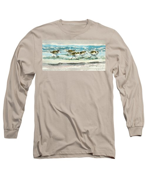Scurrying Along The Shoreline 2  1-6-16 Long Sleeve T-Shirt