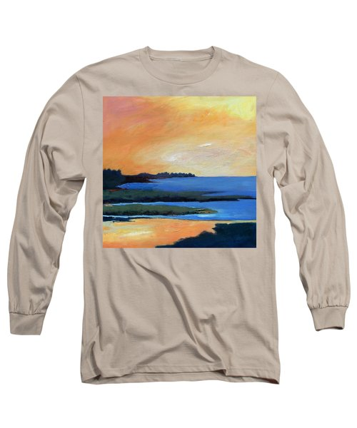 Long Sleeve T-Shirt featuring the painting Sea And Sky by Gary Coleman