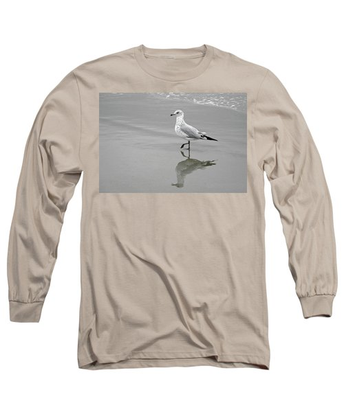 Sea Gull Walking In Surf Long Sleeve T-Shirt
