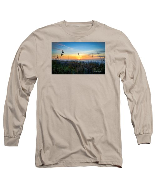 Sea Oats Sunrise Long Sleeve T-Shirt by David Smith