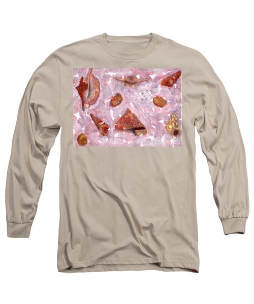 Long Sleeve T-Shirt featuring the painting Sea Shells by Annemeet Hasidi- van der Leij