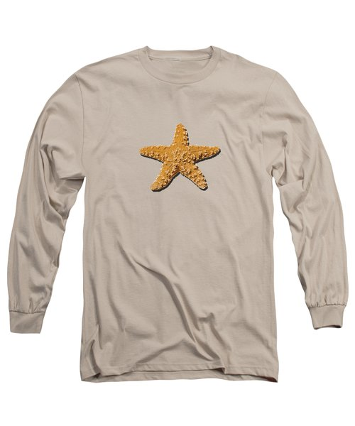 Long Sleeve T-Shirt featuring the photograph Sea Star Orange .png by Al Powell Photography USA