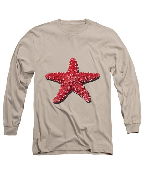 Sea Star Red .png Long Sleeve T-Shirt by Al Powell Photography USA