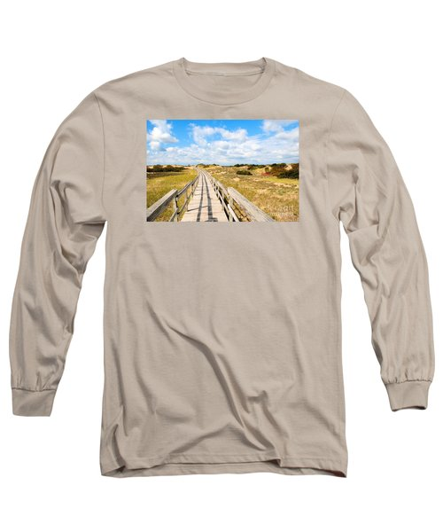 Long Sleeve T-Shirt featuring the photograph Seabound Boardwalk by Debbie Stahre