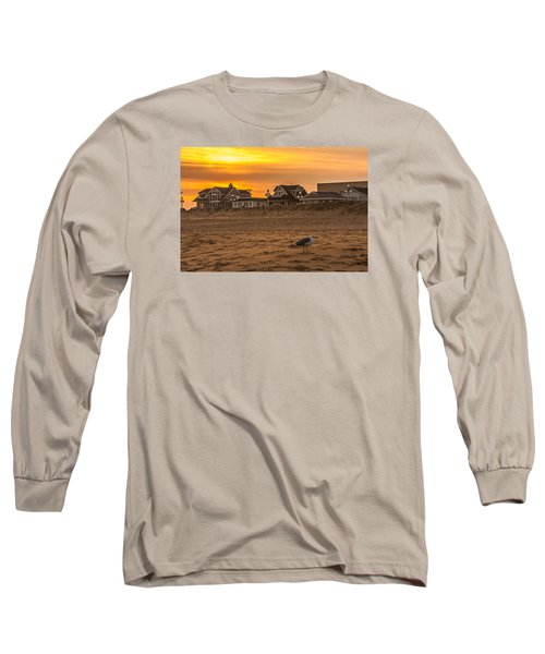 Seagull At Sunset Long Sleeve T-Shirt