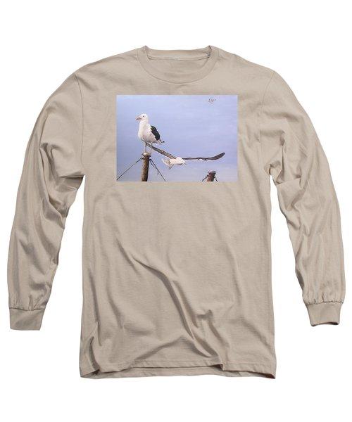 Seagulls Long Sleeve T-Shirt by Natalia Tejera