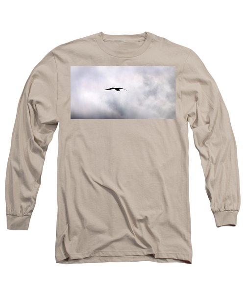 Long Sleeve T-Shirt featuring the photograph Seagull's Sky 2 by Jouko Lehto