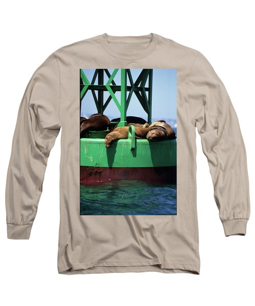 Seals On Channel Marker Long Sleeve T-Shirt