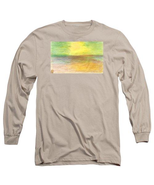 Seascape Long Sleeve T-Shirt by Karen Nicholson
