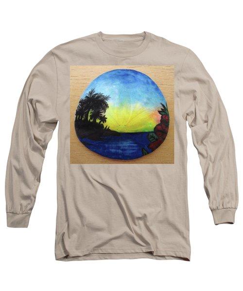 Seascape On A Sand Dollar Long Sleeve T-Shirt