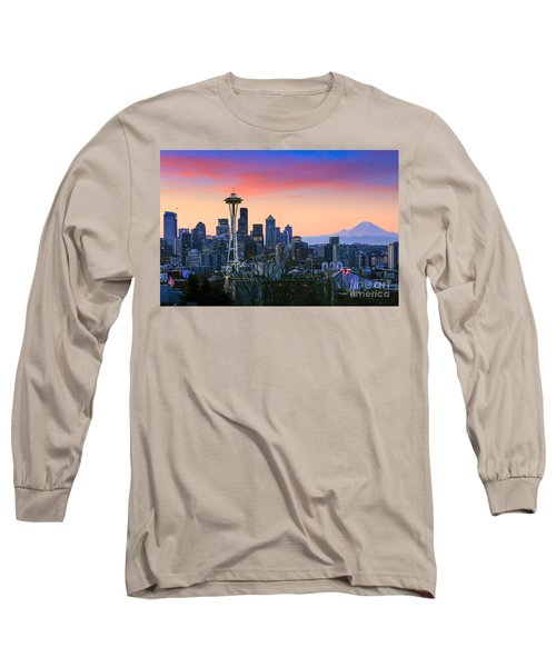 Seattle Waking Up Long Sleeve T-Shirt