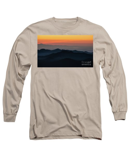 Seattle Puget Sound And The Olympics Sunset Layers Landscape Long Sleeve T-Shirt
