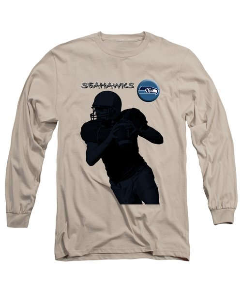 Seattle Seahawks Football Long Sleeve T-Shirt by David Dehner