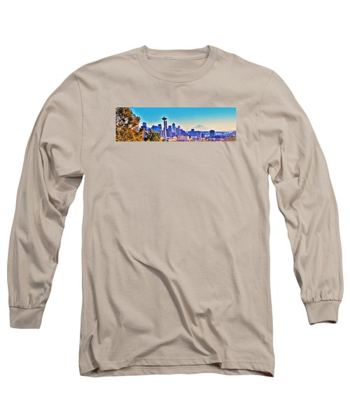 Seattle Sky Long Sleeve T-Shirt by Martin Cline