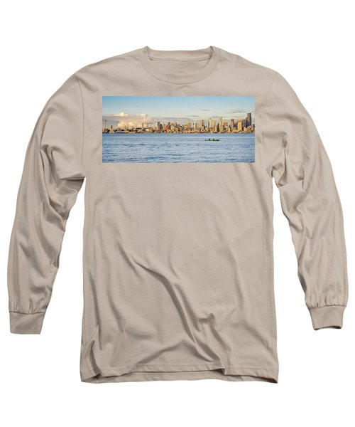 Seattle Skyline 2 Long Sleeve T-Shirt