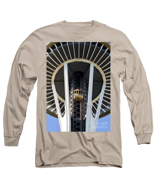 Long Sleeve T-Shirt featuring the photograph Seattle Space Needle Elevator by Chris Dutton