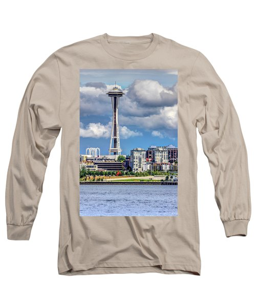 Seattle Space Needle Hdr Long Sleeve T-Shirt