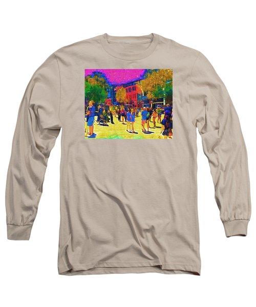 Seattle Street Scene Long Sleeve T-Shirt by Kirt Tisdale