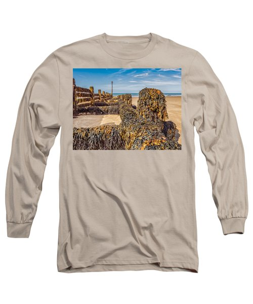 Long Sleeve T-Shirt featuring the photograph Seaweed Covered by Nick Bywater